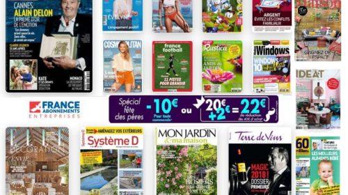 Offrez un abonnement magazine pour la fête des pères avec une remise exceptionnelle