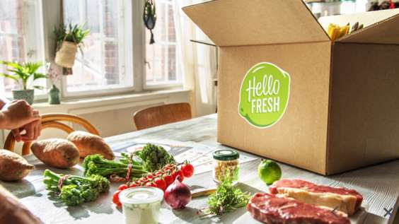 Vente privée box paniers recettes HelloFresh moitié prix