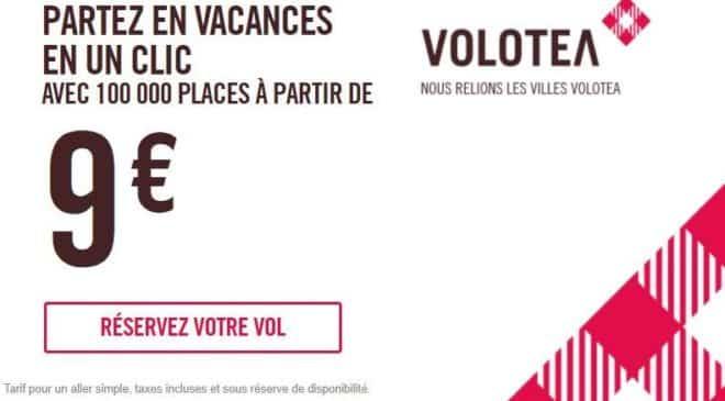 Voyagez en avion à partir de 9€ avec la vente Volotea