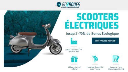 achetez scooter électrique et bénéficiez de la prime écologique et large choix de go2roues