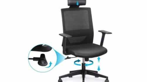 chaise bureau pivotante ergonomique Amzdeal