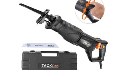 coffret scie sabre Tacklife 850W RPRS01A et 2 lames