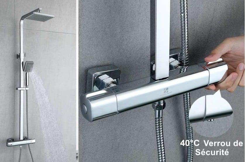 colonne de douche thermostatique pommeau de douche et douche italienne Homelody