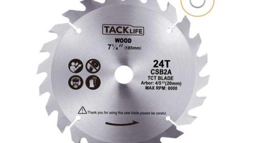 lame bois pour scie circulaire diamètre 185mm Tacklife CSB2A