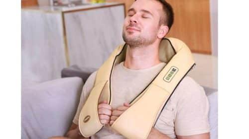 masseur chauffant Shiatsu de cou, épaules, dos, pieds… Naipo