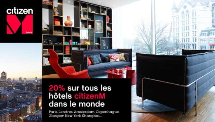 réduction sur les hôtels citizenM