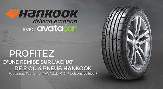 remise immédiate sur les pneus Hankook