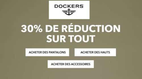 remise sur tous les articles du site Dockers