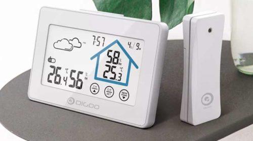 station météo Digoo sans fil tactile (température, calendrier, humidité, prévisions
