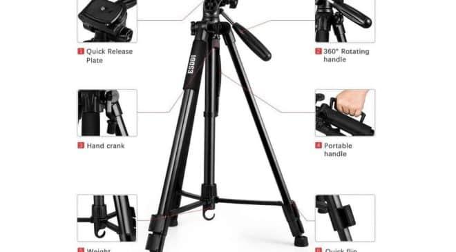 trépied appareil photo ESDDI avec rotule 360°