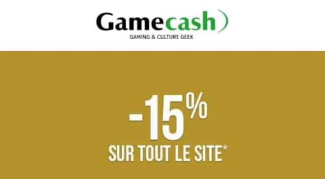 15% de remise sur tout le site Gamecash