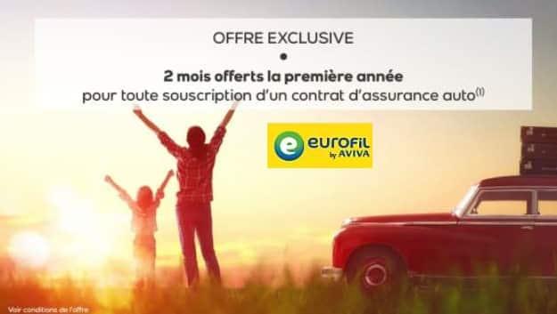 2 mois offerts pour une souscription d une assurance auto eurofil by aviva. Black Bedroom Furniture Sets. Home Design Ideas