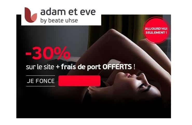 30% de remise sur Adam et Eve by beate uhse
