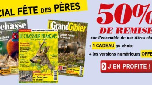 50% de remise sur les abonnements magazines de chasse