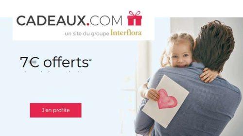 7€ de réduction sur votre commande sur Cadeaux