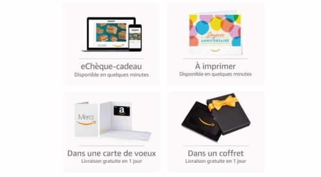 8€ offerts pour l'achat d'un chèque-cadeau Amazon