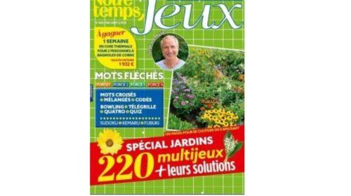 Abonnement magazine Notre Temps Jeux moitié prix
