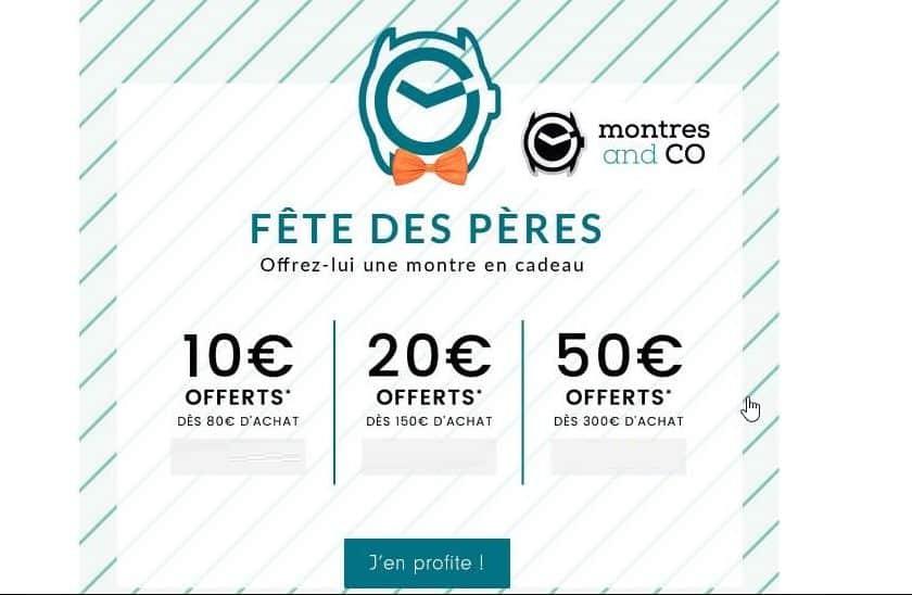 Fête des pères Montres and Co