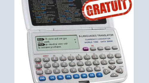 GRATUIT Traducteur électronique 8 langues de poche sur Pearl