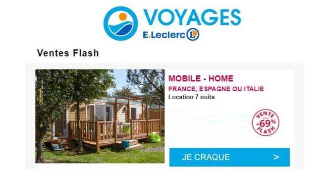 Offre flash séjour en camping avec Leclerc Voyages