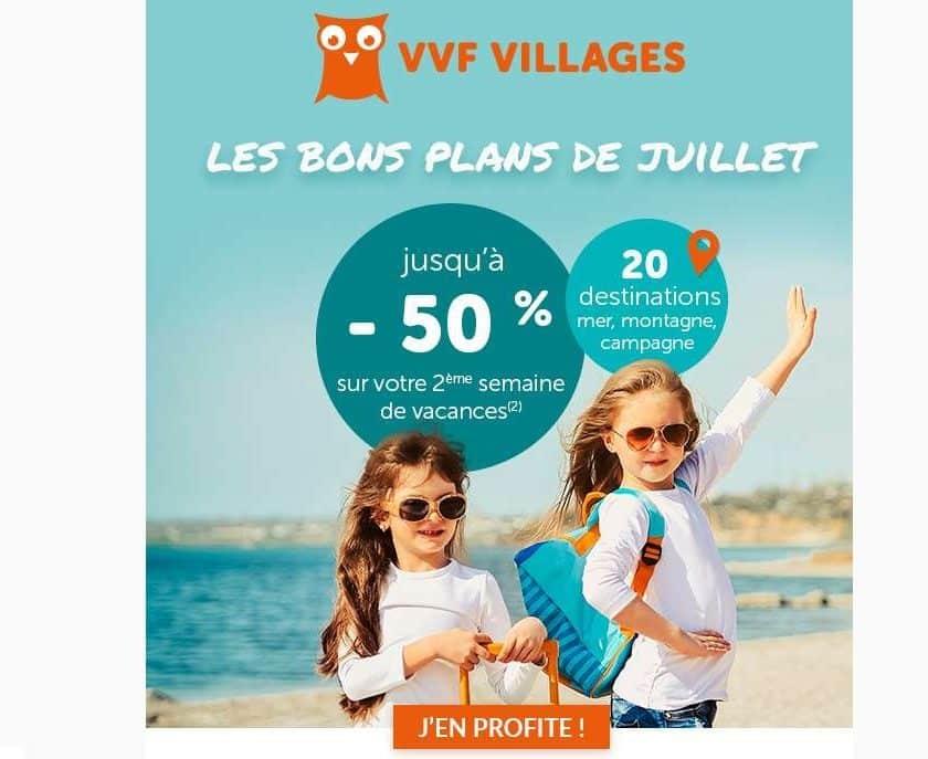 Offre flash vacances juillet VVF