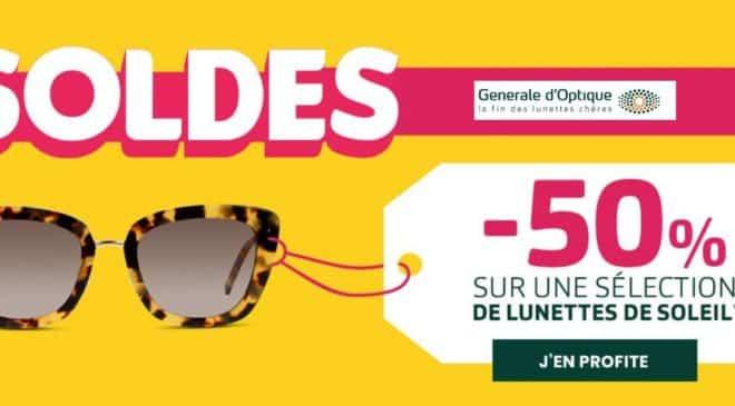 Soldes Générale d'Optique lunettes de soleil à moitié prix