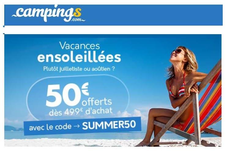 Vacances En Camping Moins Cher 50 De Remise Sur Sejours En Juillet Et Aout Des 499