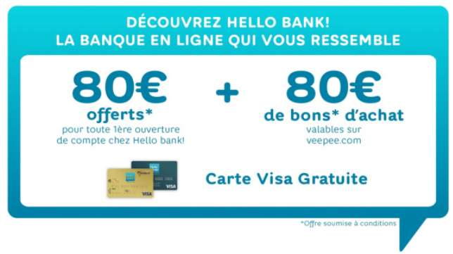 Vente privée Hello Bank !