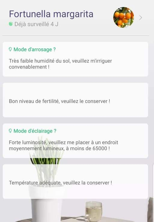 4 critères de mesures Flower Care Plant Monitor Bluetooth Vistefly