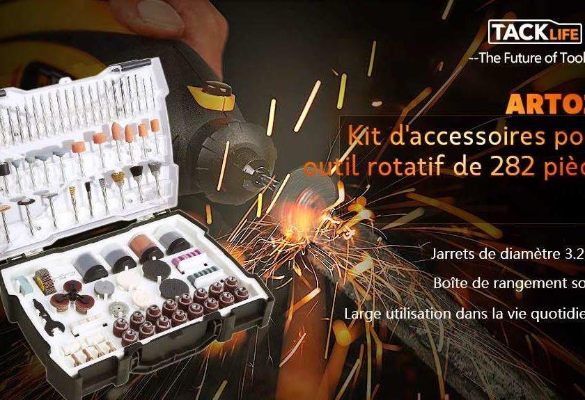 coffret de 282 accessoires pour outil rotatif (Dremel et autres) TACKLIFE ARTO2C