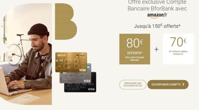 compte BforBank ouvert = 150€ offerts