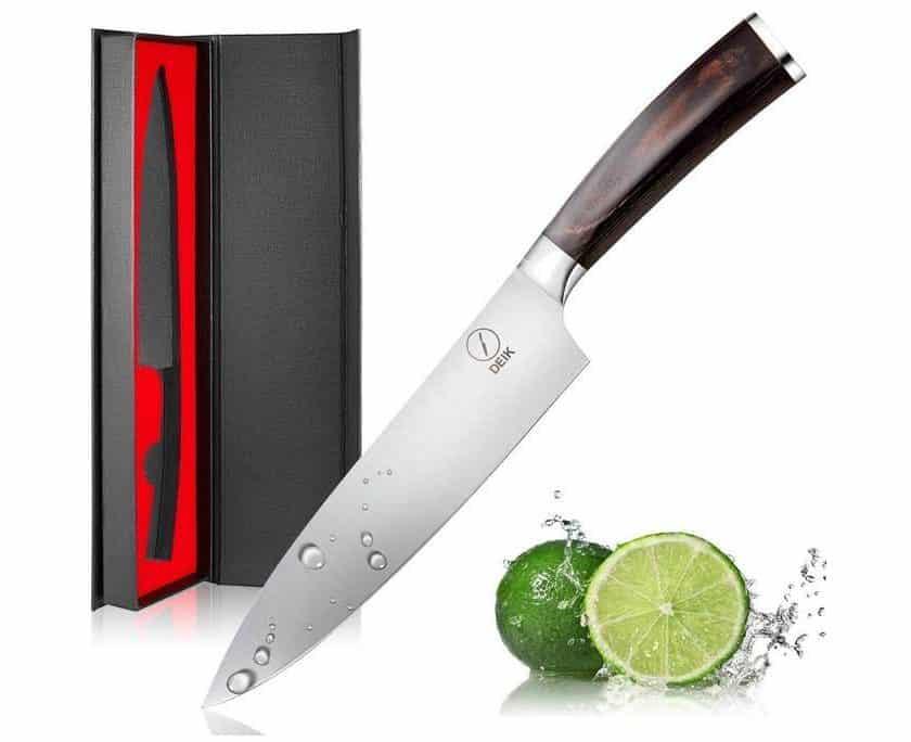couteau de chef lame de 20cm Deik acier enrichie en carbone