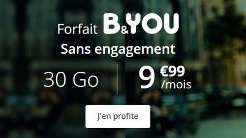 forfait mobile B&You 30Go utilisable aussi en Europe