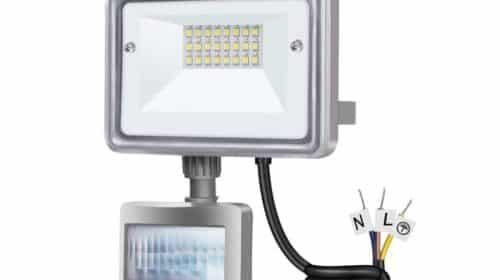 projecteur extérieur LED 10W avec détecteur de mouvement Gosun