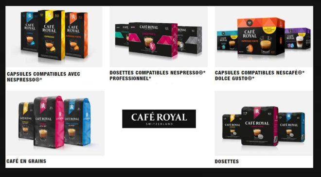 réduction sur vos achats sur le site Café Royal