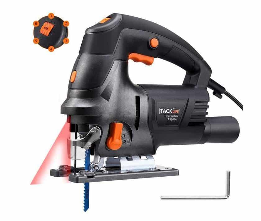 scie sauteuse avec guide laser 800W Tacklife PJS04A