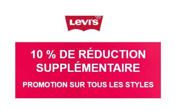 10% De Remise Supplémentaires Sur Les Promotions Levi's