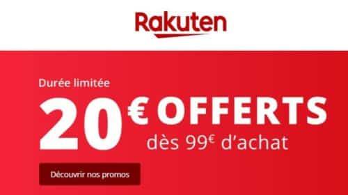 20€ de remise sur Rakuten - code promo