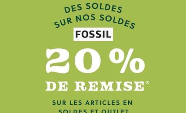 20% De Remise Supplémentaire Sur Les Soldes Fossil