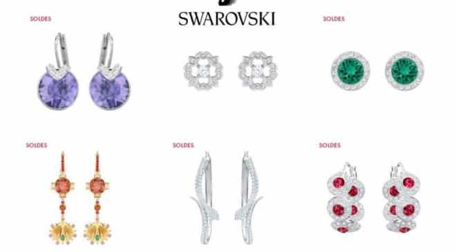200 modèles des boucles d'oreille Swarovski à -50%