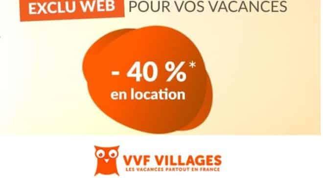 40% de réduction sur votre séjour VVF Villages