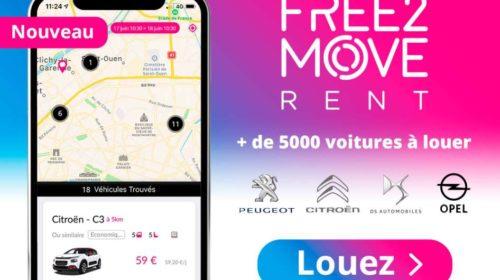 Free2Move location de Peugeot, Citroën, DS, Opel