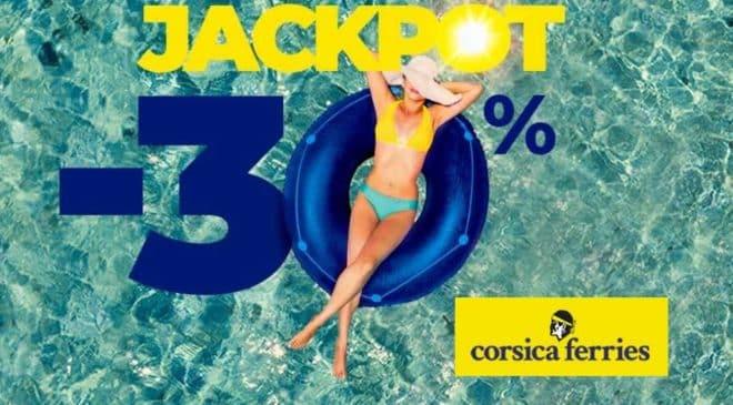 Jackpot Corsica Ferries réservez votre traversé et obtenez remise Corse, Sardaigne, Sicile et Baléares