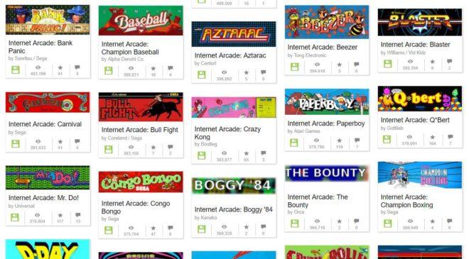 Jouez gratuitement à plus de 1700 jeux vidéo d'arcade sur votre navigateur