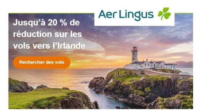 Jusqu'à 20 % sur votre prochain vol Aer Lingus vers Dublin depuis la France