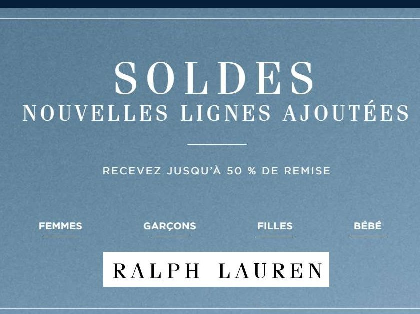 Nouvelle démarque Ralph Lauren
