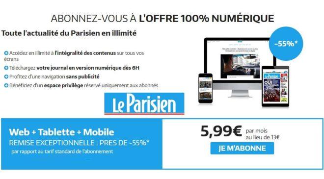 Offre abonnement magazine Le Parisien