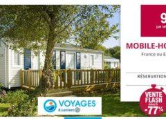 Offre flash séjour en camping dès 99€ en France et Espagne avec Leclerc Voyages (7 nuits) 🌞
