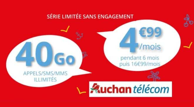 Série limité Auchan Telecom 40Go 4,99€