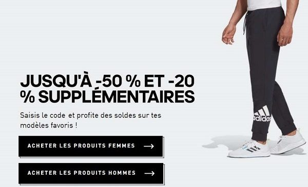 Soldes Adidas 20% Supplémentaires